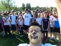 Here's Stephen taking a selfie just before 'Race for Stephen', a 5km sponsored run/walk
