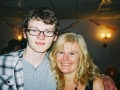 A picture of Stephen and his mum took at his 16th Birthday party