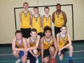 From an early age Stephen played numerous sports. Here he is pictured (back row) with his School's basketball team
