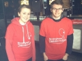 Here's a picture of Stephen and a friend just before they did a sponsored abseil down the Mailbox in Birmingham- this was his first real taste of fundraising!