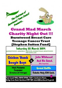 Burntwood town council charity night