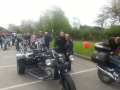 Here's Stephen and his mum at a charity bike rally