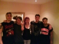 Stephen enjoyed going to many gigs, here he is backstage meeting the band Young Guns