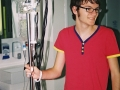 Stephen in hospital. He was first diagnosed cancer September 2010