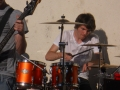 Stephen playing the drums with his old band