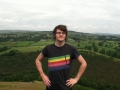A photo of Stephen standing on top of a hill that was took while he was completing his Bronze Duke of Edinburgh award