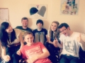 Stephen and his 'cancer friends' who he met via the Teenage Cancer Trust